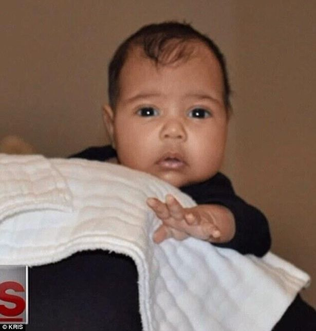 #9 Kanye West Welcomes North into the world, cheeks and all.